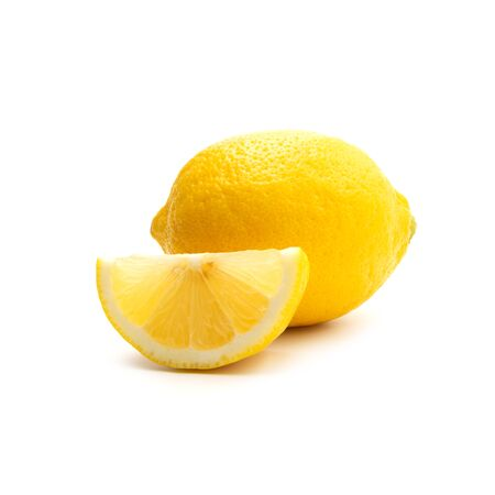 Fresh lemon isolated on white background. Food and healthy concept.