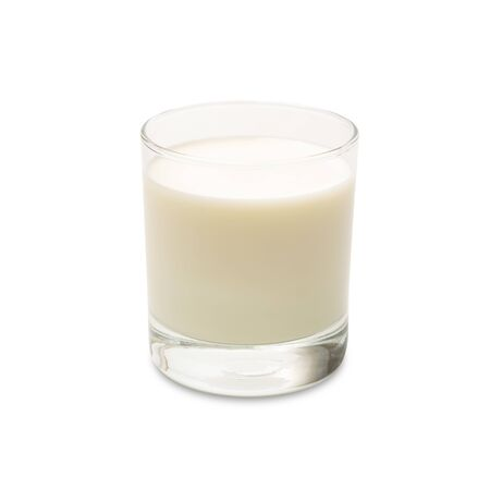Milk isolated on a white background. Glass of milk with clipping path. Drink and healthy concept.