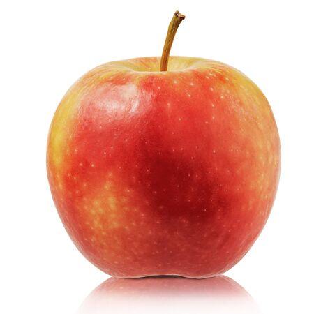 Fresh apple isolated on white background. Close up of apple