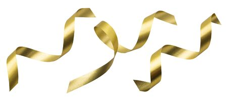 A golden ribbon isolated on a white background