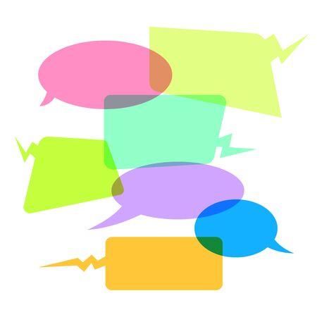 Vector of speech bubbles. Blank empty speech bubbles