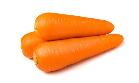 Fresh carrots isolated on white background. Close up of carrots. Stok Fotoğraf