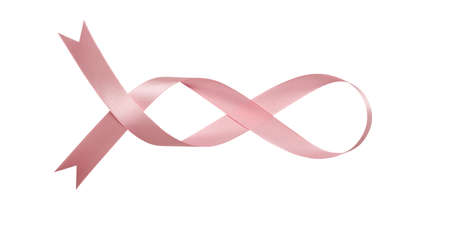 A pink ribbons isolated on a white background with clipping path. Imagens