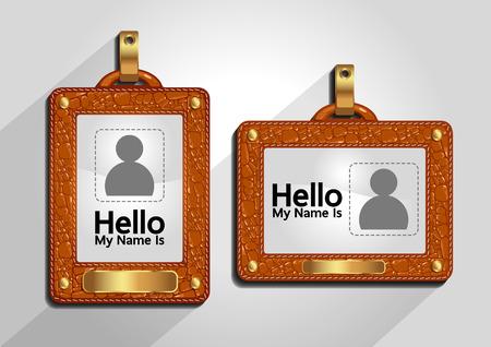 ID card template, badge or access card set.