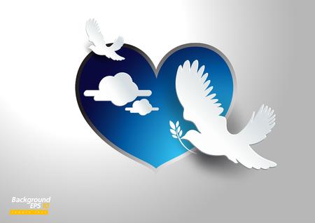 sfondo vettoriale colomba della pace