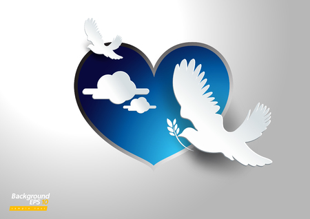 dove of peace vector background