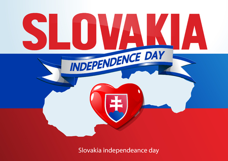 Slovakia independence day. vector illustration.