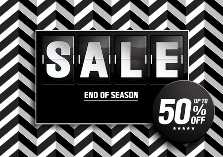 Sale Banner. Black color on Zigza background. vector illustration. you can place relevant content on the area.