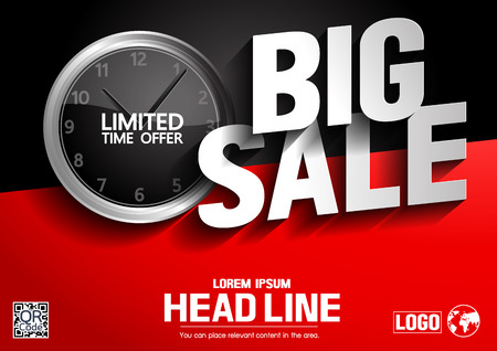 limited time offer, Big Sale concept, vector illustration, you can place relevant content on the area. Illustration