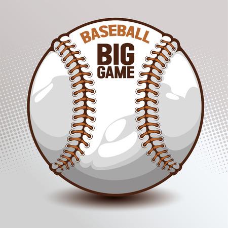 Baseball, hand drawn, drawing image vector illustration.
