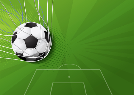 soccer game, vector illustration, you can place relevant content on the area. Illustration
