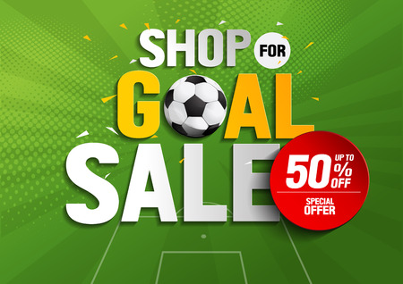 shop for goal sale, vector illustration, you can place relevant content on the area. Illustration