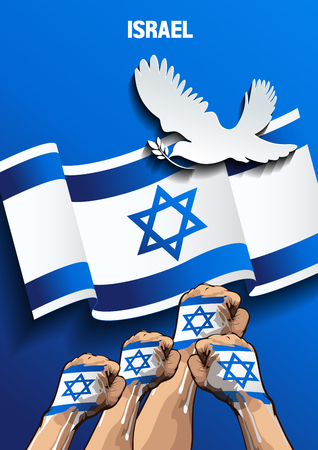 Israel independence day,Vertical Poster, freedom day, vector illustration.