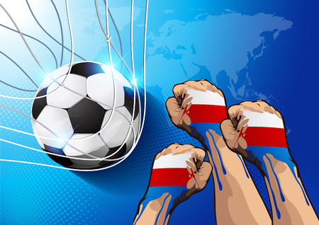 Football World Championship Background Soccer Russia, show good resukts color