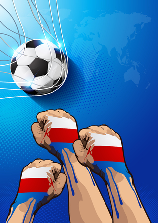 Russia football poster, show good resukts color RGB COLOR MODE, you can place relevant content on the area.