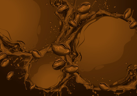 Wave Circle of Coffee background. vector illustration. you can place relevant content on the area.