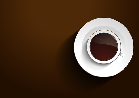 Cup Coffee vector background. vector illustration. you can place relevant content on the area.