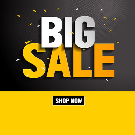 Big Sale, vector illustration, you can place relevant content on the area. Stock Vector - 126371545