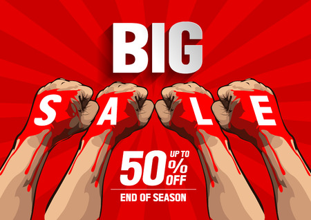 Big Sale concept, vector illustration, you can place relevant content on the area. Illustration