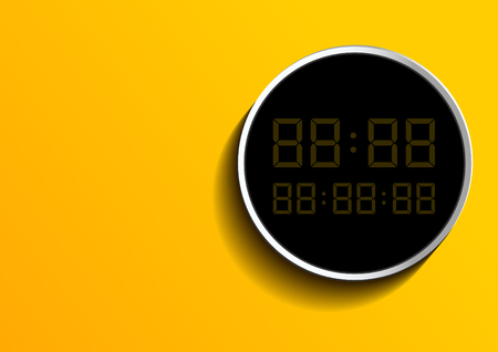 Digital Number Background, Vector illustration. you can place relevant content on the area.