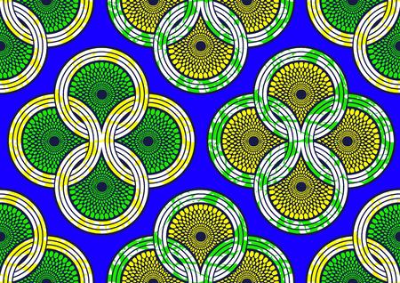 Tejido de estampado africano de moda textil super cera. archivo de ilustración vectorial.