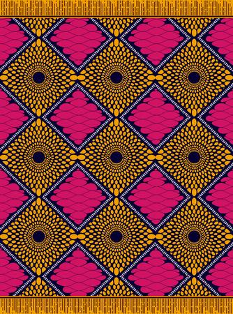 Textile fashion african Ankara print, fabric sarong, vector illustration file.