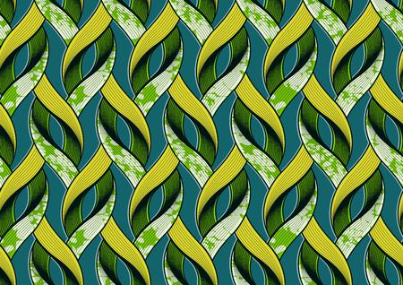 Textile fashion african print fabric super wax. vector illustration file. Vektorové ilustrace