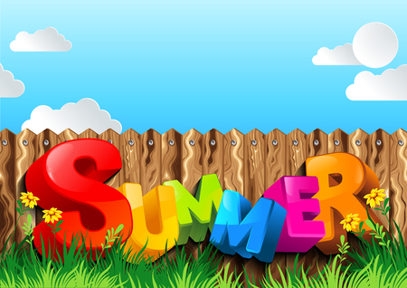 summer background, vector illustration, you can place relevant content on the area. Ilustracje wektorowe