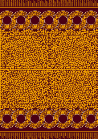 Textile fashion african print fabric, abstract pattern, vector illustration file.