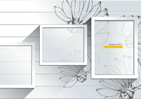 Abstract White background with Banana hand drawn illustration