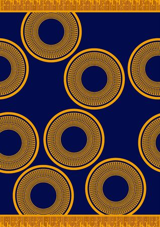 Textile fashion, african print fabric, abstract seamless pattern, vector illustration file. Vectores