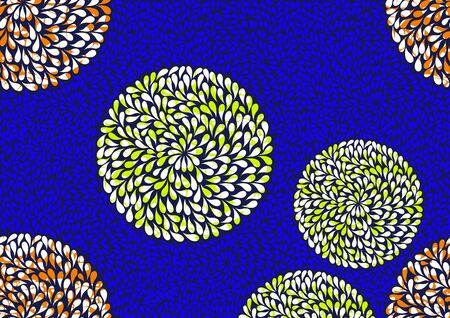 Textile fashion, african print fabric, abstract seamless pattern, vector illustration file. Illustration