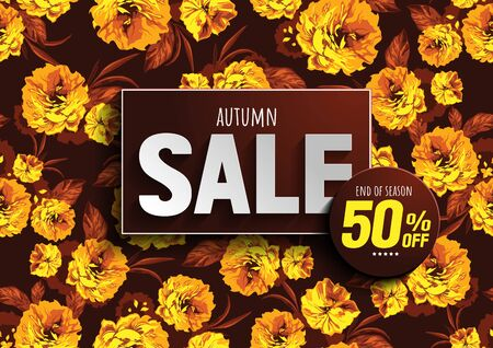 autumn sale vector illustration file.