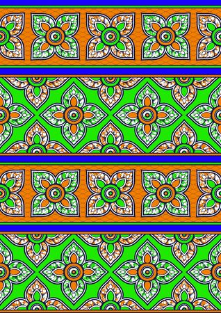 Textile fashion, african print fabric, abstract seamless pattern, vector illustration file.  イラスト・ベクター素材