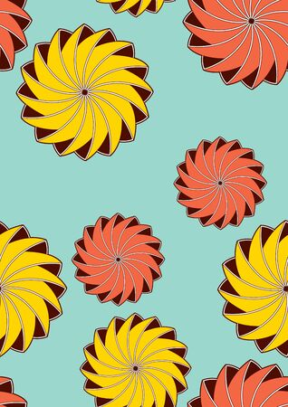 Textile fashion, abstract seamless pattern, vector illustration file.