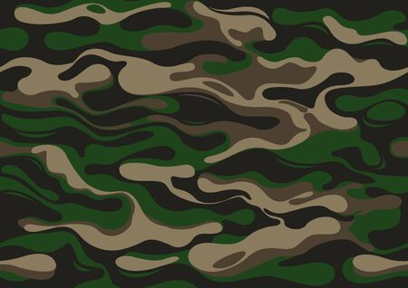 abstract camouflage military pattern, skin texture green color, fashion fabric printing vector illustration.