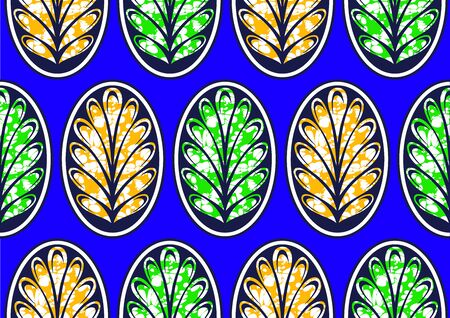 african fashion seamless pattern ornament in vibrant colours., picture art and abstract background, vector illustration file.