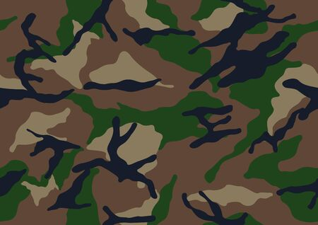 abstract camouflage military pattern, skin texture Brown color, fashion fabric printing vector illustration.