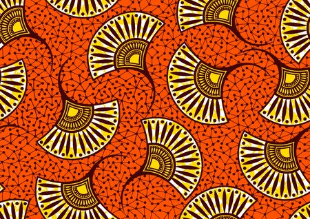 african fashion seamless pattern ornament in vibrant colours, picture art and abstract background for Fabric Print, Scarf, Shawl, Carpet, Kerchief, Handkerchief, vector illustration file