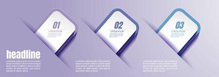 infographic business, process chart design template for presentation. abstract timeline elements, vector illustration Banco de Imagens
