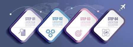 infographics business, process chart design template for presentation. abstract timeline elements, vector illustration