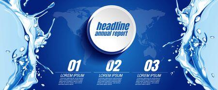 infographics business, process chart design template for presentation, abstract timeline elements Banco de Imagens