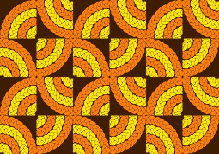 african fashion seamless pattern ornament in vibrant colours, picture art and abstract background for Fabric Print, Scarf, Shawl, Carpet, Kerchief, Handkerchief Ilustração