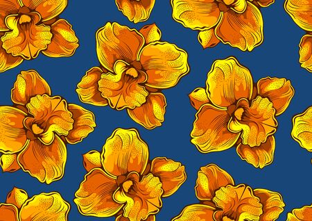 flower seamless pattern, a realistic drawing, comic style, picture art and abstract background
