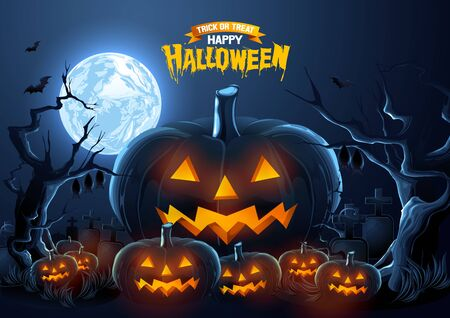 Halloween, Ghost, treat or trick, Vector illustration, horizontal Poster, you can place relevant content on the area, show good color RGB COLOR MODE.