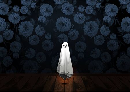 Halloween, Ghost, treat or trick, Vector illustration,  horizontal Poster, you can place relevant content on the area. 矢量图像