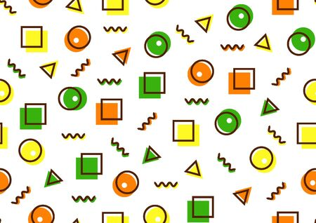 Abstract geometric minimal seamless pattern, hipster fashion background. Ilustração