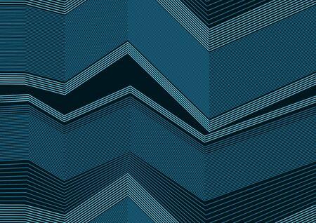 Zigzag Line Seamless Pattern, Elegant Background Ilustração