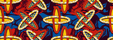 african seamless pattern, picture art and abstract background, vector illustration file.