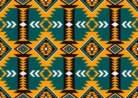 Navajo Seamless Pattern, abstract geometric background.